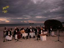 Culture Taarab Orchestra film at the beach